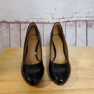 Clark's Brier Dolly Black Patent Leather Pumps